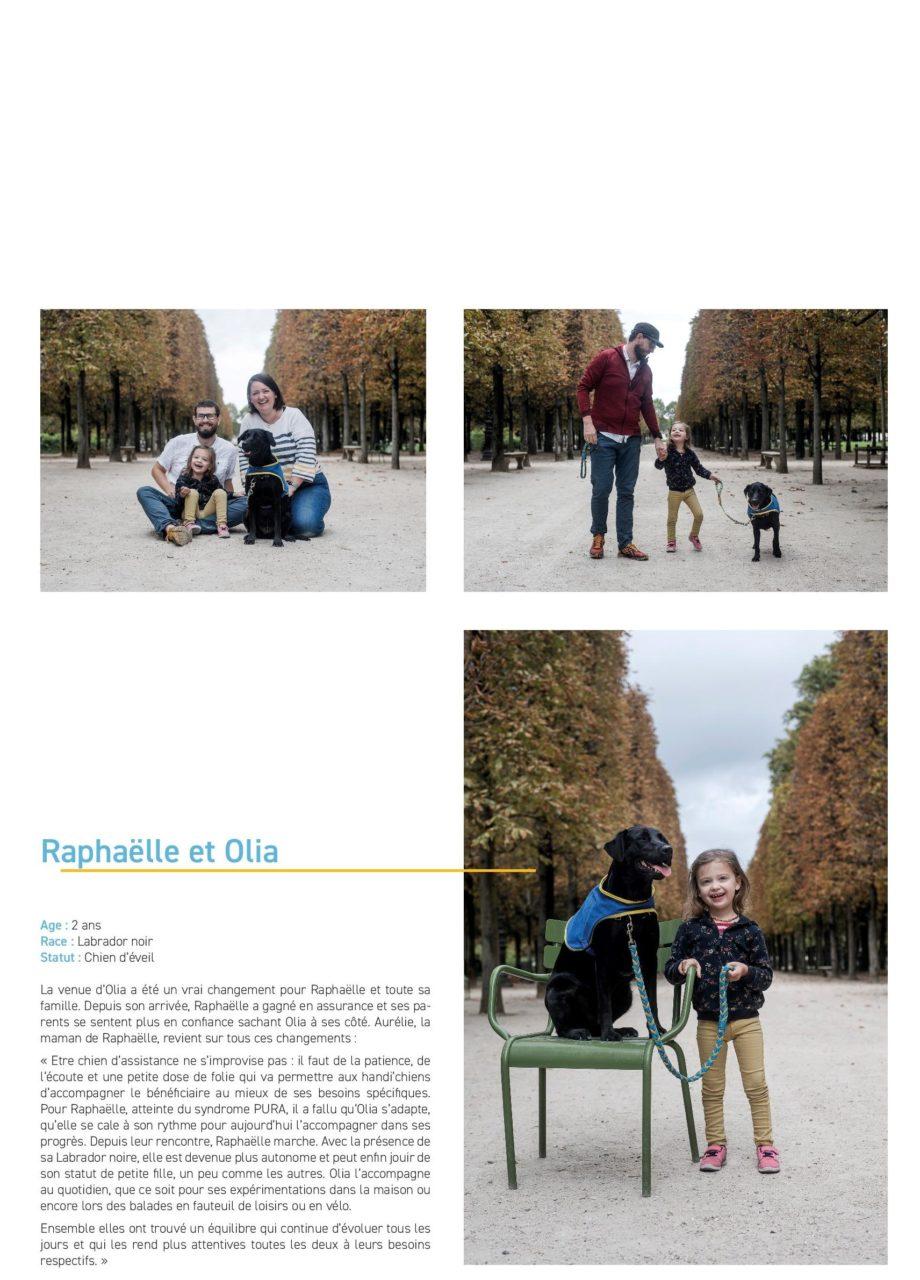 Raphaëlle et Olia, son chien d'éveil HANDI'CHIENS