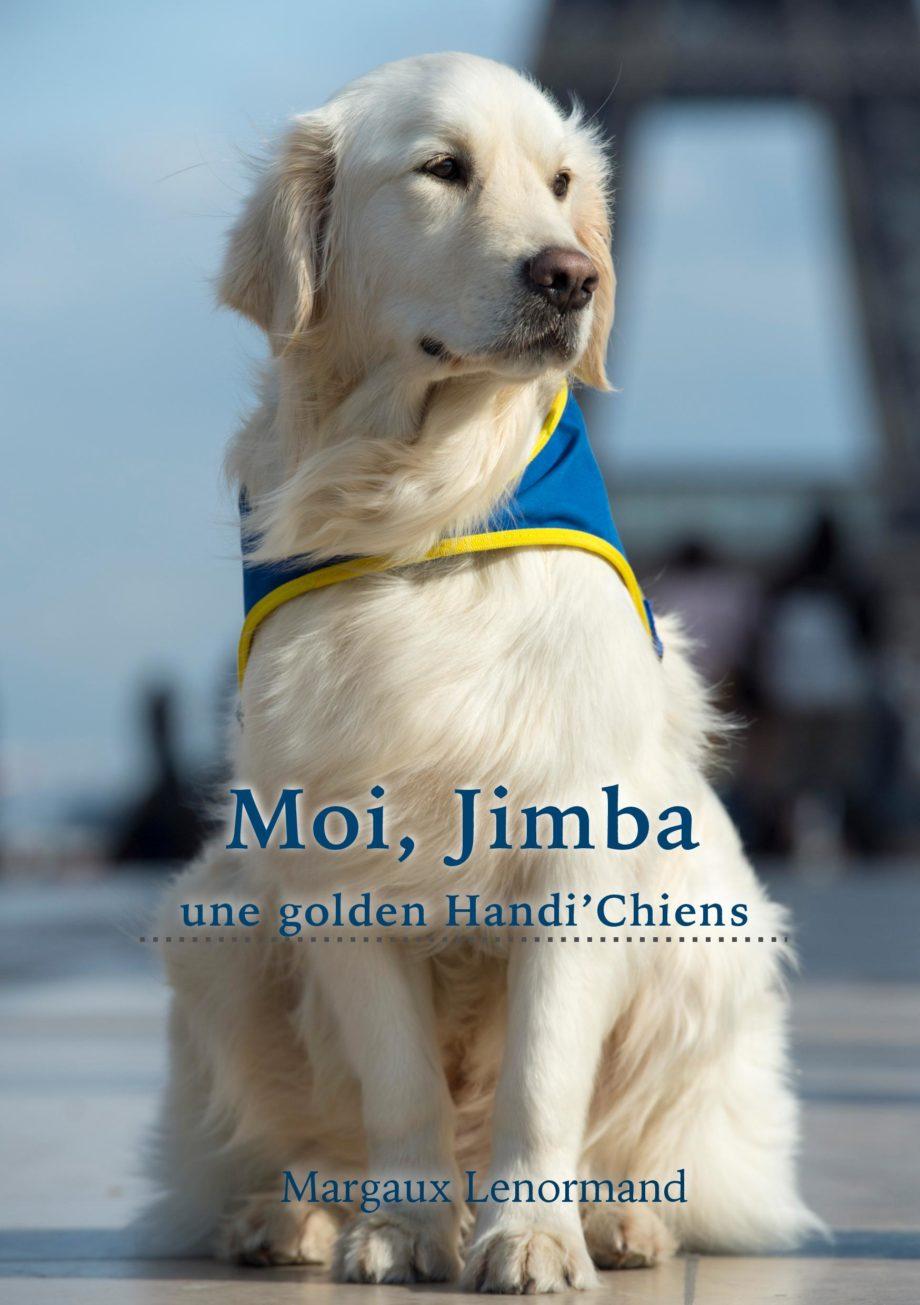 1ère couverture livre-Moi, Jimba, une golden Handi'Chiens