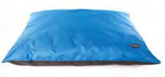 Coussin waterproof 120x100 noir et bleu